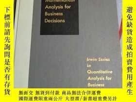 二手書博民逛書店Mathematical罕見analysis for business decisions(商業決策的數學分析)奇