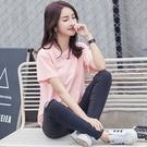 88柑仔店--韓版寬松短袖T恤女夏新款純棉純色半袖顯瘦白色上衣圓領簡約女裝  (A0555)