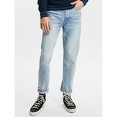 Gap男裝直筒水洗牛仔褲516554-淺色靛藍