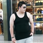 大碼背心男夏季加肥加大碼男士胖子肥佬莫代爾薄款寬鬆棉打底汗衫-Ifashion