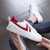 小白鞋百搭韓版厚底平底學院風白色女鞋子運動板鞋潮優家小鋪