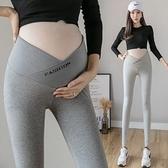 漂亮小媽咪 孕婦內搭褲【L1188】孕婦褲 低腰 交叉 托腹 瑜伽 運動 九分褲