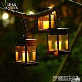 太陽能燈太陽能燈室外吊燈家用防水戶外別墅庭院燈裝飾花園燈掛樹蠟燭燈具【時尚新品】