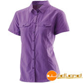 Wildland 荒野 W1203-29紫羅蘭 女排汗抗UV短袖襯衫