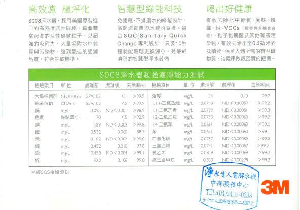 【水達人】3M淨水器 S008 Filtrete 極淨便捷系列淨水器(除鉛)+ S008專用濾心(3US-F008-5)二支