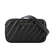 【MICHAEL KORS】Rose 素面皮革斜縫線設計腰包(迷你)(黑色) 35T0GXOC1I BLACK