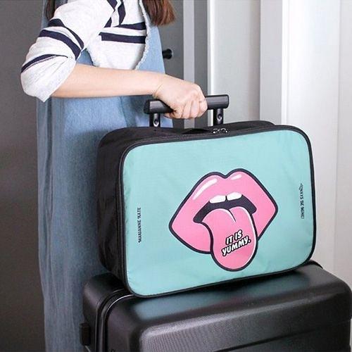 可愛韓版拉桿輕便行李收納袋 短途出門旅行包 旅遊出差手提包