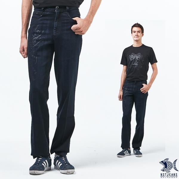 【NST Jeans】 銀色刺青印花 原色重磅數牛仔男褲(中腰) 390(5710)