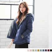 《EA1165-》雙層連帽鋪棉修身禦寒外套 OB嚴選