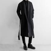 秋冬季加厚過膝中長款男士風衣韓版寬鬆落肩潮流毛呢子大衣男外套