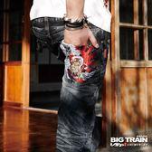 BIG TRAIN 墨達人衝浪小直筒-男-中藍