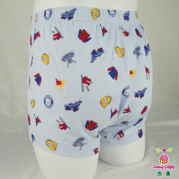 【anny pepe】男童平口內褲_活力棒球趣/藍