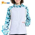 UV100 防曬 抗UV-涼感輕薄透氣外套-幾何印花
