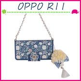 OPPO R11 5.5吋 淑女風皮套 茉莉花保護殼 側翻手機殼 可插卡保護套 小花磁扣手機套 吊飾孔