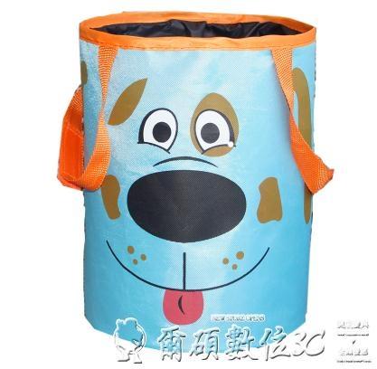 車載垃圾桶汽車內用折疊卡通可愛懸掛式收納袋多功能小垃圾桶迷你新年禮物
