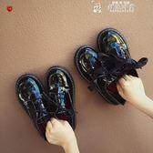 皮鞋女韓國ulzzang原宿皮鞋女女學生復古百搭英倫學院  韓流時裳