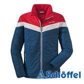 德國 SCHOFFEL 男 抗雪保暖配色外套 藍/紅/白 1021397