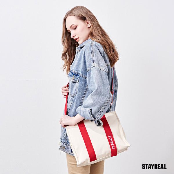 STAYREAL PURE LIFE帆布袋(大)