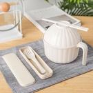 餐具 日式小麥秸稈泡面碗單個碗筷餐具套裝學生宿舍帶蓋大碗神器大面碗  快速出貨