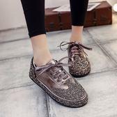 歐洲站滿?女鞋潮春季韓版新款時尚社會鞋百搭休閒原宿板鞋女 居享優品
