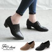 靴.時髦顯瘦造型彈性帶高跟尖頭踝靴-FM時尚美鞋-訂製款.young