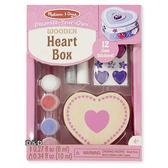 《 美國 Melissa & Doug 》親子美勞 DIY - 木製心形珠寶盒 ╭★ JOYBUS歡樂寶貝