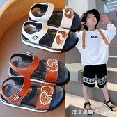 男童涼鞋2021年新款夏季潮天小童寶寶軟底防滑舒適防臭兒童沙灘鞋 蘿莉新品