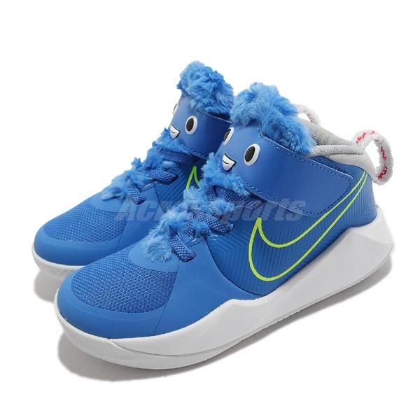 Nike 童鞋 Team Hustle D 9 LIL PS 藍 魔鬼氈 小朋友 4-7歲 【ACS】 CT4063-400