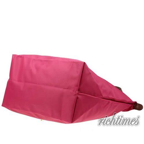 【裕代 LONGCHAMP】桃紅水餃大肩背包(長把) LC0C8616