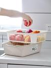 菜篮 雙層方形洗菜籃子瀝水籃塑料家用創意水果盤多功能廚房淘米洗菜盆【快速出貨八折下殺】