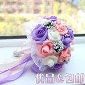 韓式新娘手捧花結婚婚禮定制送胸花pe永生環保材料制作 【PINK Q】