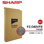 SHARP夏普FU-D80T-W專用甲醛濾網 FZ-D80VFE