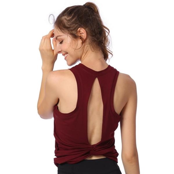 夏季速乾女運動背心女 跑步健身上衣 美背訓練瑜伽服背心女01841米莎MISHA