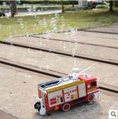 泡泡機 消防泡泡車玩具自動吹泡泡機消防車燈光音樂噴泡泡消防玩具車 免運 艾維朵