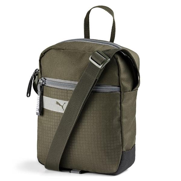 PUMA VIBE 軍綠 反光LOGO 隨身 小方包 側背包 (布魯克林) 07549311