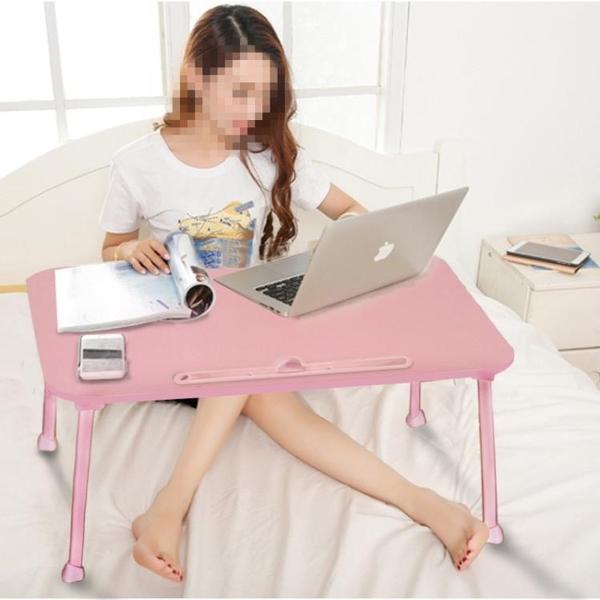 床上書桌板少女心折疊宿舍家用懶人小型簡易臥室坐地創意電腦桌子