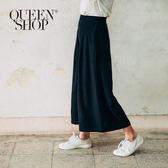 Queen Shop【04060273】後鬆緊打折造型休閒寬褲 兩色售 S/M*預購*