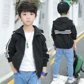 男童外套 秋款條子夾克風衣男童長袖秋裝兒童上衣7399 辛瑞拉