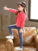 兒童牛仔上衣女童韓版外套時尚寶寶1-2-3歲潮洋氣  『名購居家』