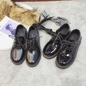 JK鞋 英倫風JK鞋女春季學生韓版百搭jk復古平底黑色日系單鞋 夏季上新