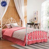 鐵藝床鋼木床簡約雙人床1.8米鐵床鐵架床鐵藝床公主床 igo 全館免運