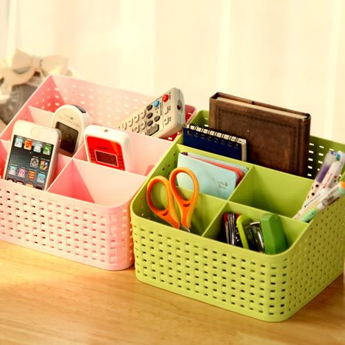 創意桌面塑料多格整理盒學生宿舍化妝品收納盒辦公室客廳分類盒【年中慶八五折鉅惠】