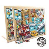 美國TOI兒童拼圖玩具禮物木質3-4-5-6歲幼兒寶寶益智早教智力玩具 ~黑色地帶