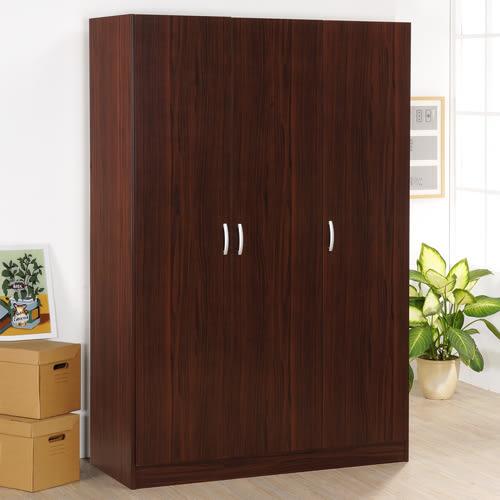 《Hopma》胡桃木色三門衣櫥