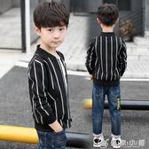 男童秋裝外套休閒開衫夾克棒球服兒童中大童小孩韓版童裝 理想潮社