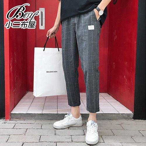 老爺褲格紋復古小腳褲九分褲【NW658029】