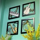 鐵藝樂器壁掛牆飾家居牆面裝飾品沙發背景牆壁掛飾品創意軟裝掛件