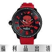 【台南 時代鐘錶 】MORRIS K 潮流逆襲 逆轉世界骷髏頭搶眼潮流錶 大款 MK13045-AB01