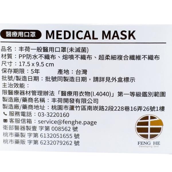 【優品購健康】 丰荷 荷康 聖誕節 黃耳線 雙鋼印 MD 醫用口罩 50入 醫療口罩 成人口罩 中衛 耶誕