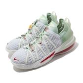 Nike 籃球鞋 LeBron XVIII NRG GS 綠 紅 大童鞋 女鞋 18代 玉珮 LBJ 氣墊 運動鞋 【ACS】 CT4677-002